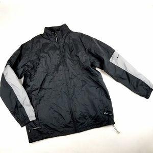 Mens Nike Black Wind Breaker Rain Jacket Size XL